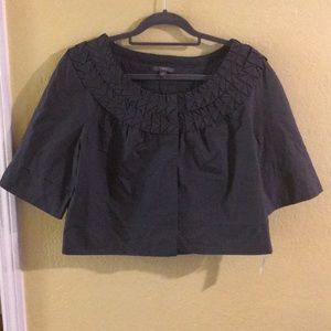 New Apt 9 jacket m gray medium career ruffles